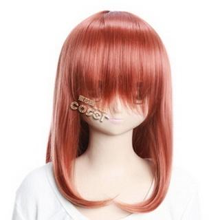 Red Semi-long Nylon Straight Cosplay Wig