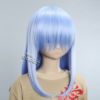 Blue Semi-long Nylon Straight Cosplay Wig