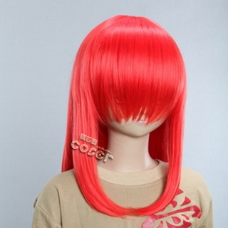 Red Short Nylon Straight Cosplay Wig