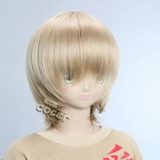 Golden Short Nylon Straight Cosplay Wig
