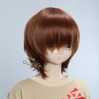 Brown Short Nylon Straight Cosplay Wig
