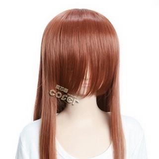 Coffee  Long Nylon Straight Cosplay Wig
