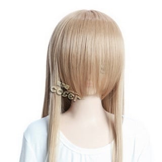 Golden  Long Nylon Straight Cosplay Wig
