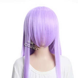 Purple Long Nylon Straight Cosplay Wig
