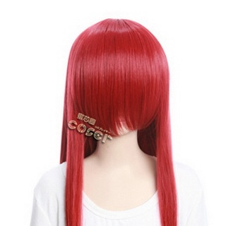 Red  Long Nylon Straight Cosplay Wig