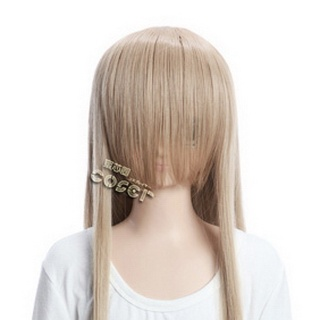Coffee  Long Nylon Straight Cosplay Wig