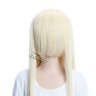 Yellow Long Nylon Straight Cosplay Wig