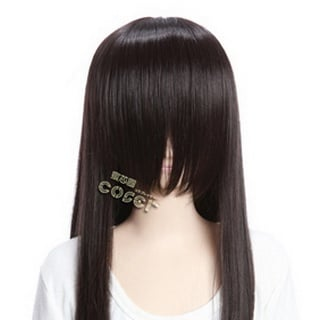 Black Long Nylon Straight Cosplay Wig