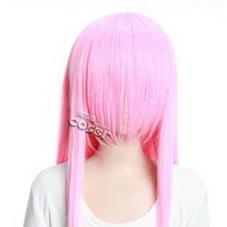 Pink  Long Nylon Straight Cosplay Wig