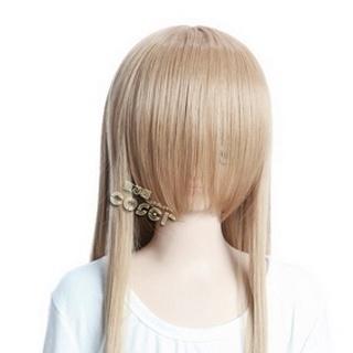 Light Coffee Long Nylon Straight Cosplay Wig