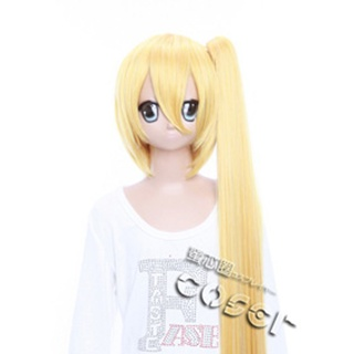 VOCALOID Akita Neru Golden Long Nylon Straight Cosplay Wig