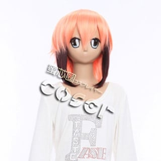 Heaven's Lost Property Ikaros Pink Long Nylon Straight Cosplay Wig