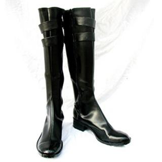 Hitman Reborn Chrome Dokuro PU Leather Cosplay Boots
