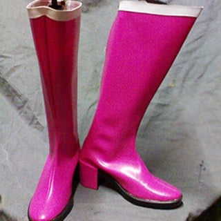 Sailor Moon Tsukino Usagi PU Leather Cosplay Boots