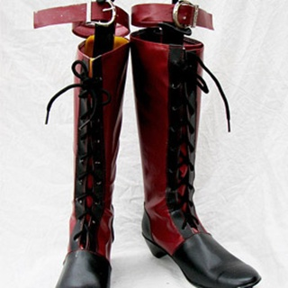 Black Butler Ciel PU Leather Cosplay Boots