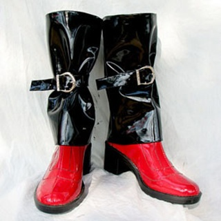 Guilty Gear Jam Kuradoberi PU Leather Cosplay Boots