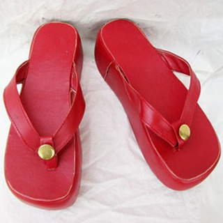 Sangoku musou 2 Aya-Gozen PU Leather Cosplay Shoes
