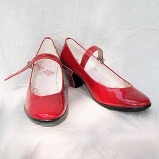 Sailor Moon Hino Rei/Sailor Mars PU Leather Cosplay Shoes