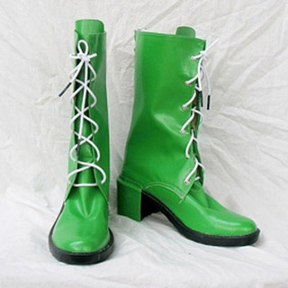 Sailor Moon Kino Makoto/Sailor Jupiter PU Leather Cosplay Boots