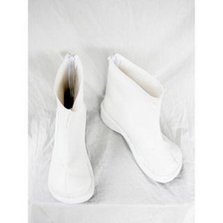ホワイト ショート 厚底 合皮 コスプレブーツ