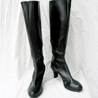 Black Butler Sebastian Michaelis PU Leather Cosplay Boots