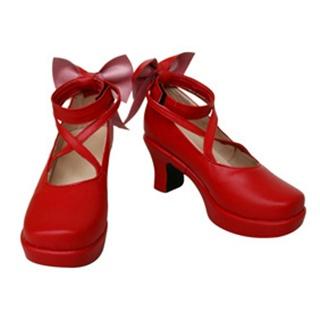 魔法少女まどか☆マギカ 鹿目 まどか(かなめ - ) 合皮 ゴム底 コスプレ靴