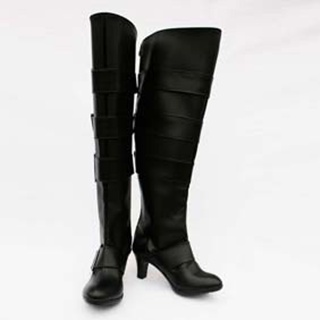 Black Butler Under Taker PU Leather Cosplay Boots