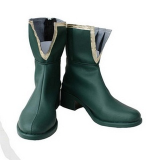 Puella Magi Madoka Magica Miki Sayaka  PU Leather Cosplay Boots