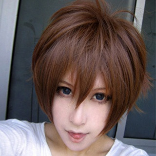 Tsubasa-RESERVoir CHRoNiCLE- Risyaoran Brown Short Nylon Cosplay Wig