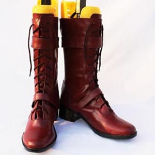 Tigger&Bunny Barnaby Brooks PU Leather Cosplay Boots