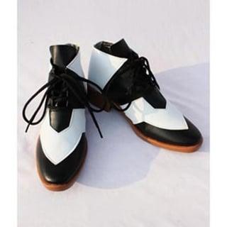 TIGER & BUNNY ワイルドタイガー / 鏑木·T·虎徹 ホワイトとブラック 合皮  コスプレ靴
