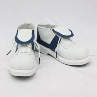 イナズマイレブン 宇都宮虎丸(うつのみやとらまる) ホワイトとブラック 合皮 フラットヒール コスプレ靴