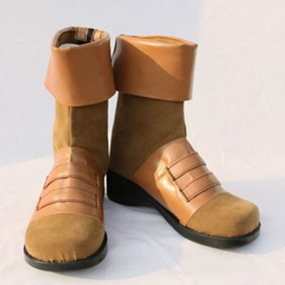 Sakura War Kiryushima Kanna PU Leather Cosplay Boots