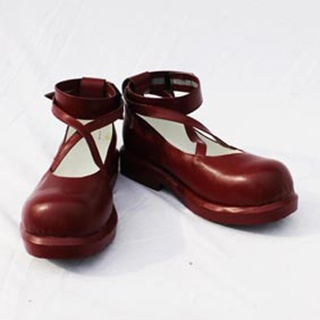 Aria the Scarlet Ammo Mine Riko  PU Leather Cosplay Shoes