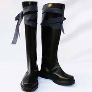 Tegami Bachi Noir PU Leather Cosplay Shoes