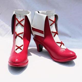 Heartcatch PreCure! Hojo Hibiki PU Leather Cosplay Boots