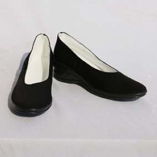 銀魂 神楽 ブラック 合皮 ゴム底 低ヒール コスプレ靴