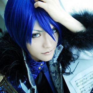 うたの☆プリンスさまっ♪ 聖川真斗(ひじりかわ まさと) ショート ブルー コスプレウィッグ