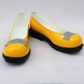VOCALOID SeeU(シユ) 韓国 イエロー 合皮 ゴム底 低ヒール コスプレ靴
