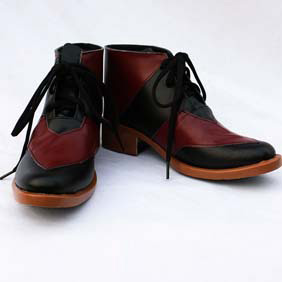 TIGER & BUNNY 黒虎 レッド ブラック 合皮 ゴム底 低ヒール コスプレ靴
