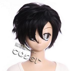 Fate/Zero 衛宮切嗣(えみやきりつぐ) ブラック  耐熱新素材 ショート 逆立 コスプレウィッグ