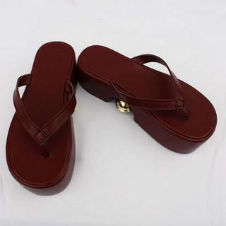 VOCALOID 鏡音リン レッド 合皮 ゴム底 ハイヒール コスプレ靴