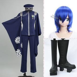 VOCALOID 初音ミク 千本桜 KAITO コスプレ衣装+コスプレウイッグ+コスプレブーツ 3点セット