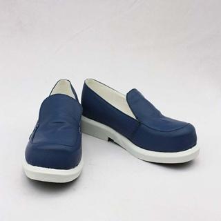 VOCALOID 雪ミク 2012 ブルー 合皮 ゴム底 コスプレ靴