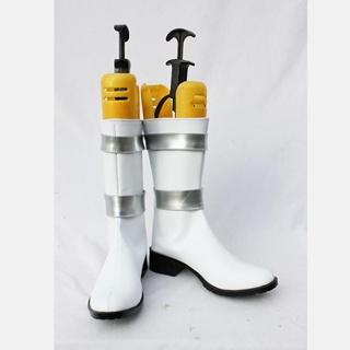 机动戦士 ガンダム ホワイト 合皮 ゴム底 低ヒール コスプレ靴