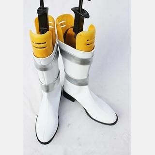 机动戦士 ガンダム ホワイト 合皮  コスプレ靴