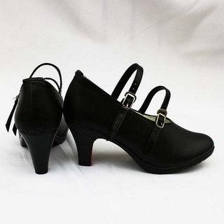 CrossFire クロスファイア 夜のバラ ブラック 合皮  コスプレ靴