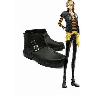 アムネシア AMNESIA  トーマ(TOMA)ブラック  ショートブーツ  合皮 ゴム底 低ヒール  コスプレ靴