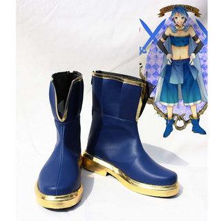 魔法少女まどか☆マギカ  美樹 さやか(みき さやか) ブルー  ショートブーツ 合皮 ゴム底 低ヒール  コスプレブーツ