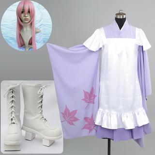 VOCALOID 千本桜 巡音ルカ コスプレ衣装+コスプレウイッグ+コスプレブーツ 3点セット